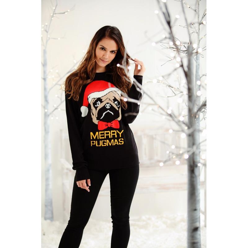 Rode Kersttrui Heren.Foute Dames Heren Kersttrui Merry Pugmas In De Feestpruiken Winkel